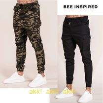 Bee Inspired Clothing Camouflage Street Style Plain Cargo Pants