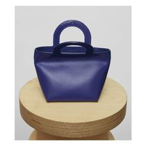 Building Block Casual Style Plain Handbags