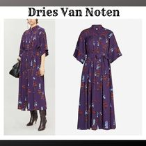 Dries Van Noten Flower Patterns A-line Cropped Medium Dresses