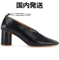 Jil Sander Plain Toe Plain Leather Elegant Style