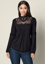 Venus Lace-up Casual Style Long Sleeves Medium Party Style Lace