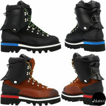 D SQUARED2 Mountain Boots Plain Leather U Tips Outdoor Boots