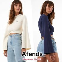AFENDS Crew Neck Short Street Style Long Sleeves Cotton Cropped