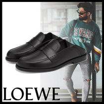 LOEWE Loafers Street Style Plain Leather Loafers & Slip-ons