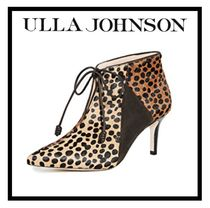 ULLA JOHNSON Leopard Patterns Casual Style Suede Elegant Style