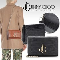 Jimmy Choo Casual Style 2WAY Chain Plain Other Animal Patterns Leather