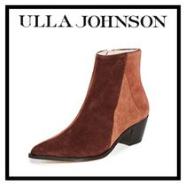 ULLA JOHNSON Casual Style Suede Plain Elegant Style Ankle & Booties Boots