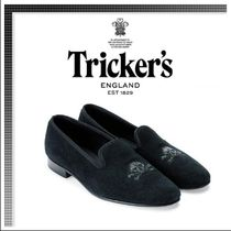 Tricker's Skull Suede Oxfords