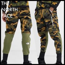 THE NORTH FACE Tapered Pants Camouflage Sweat Street Style Cotton Bottoms