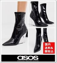 ASOS Casual Style Faux Fur Wedge Boots