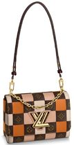 Louis Vuitton TWIST Other Check Patterns Monogram Canvas Blended Fabrics 2WAY