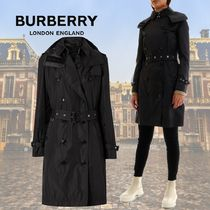 Burberry Casual Style Nylon Plain Long Office Style Elegant Style