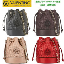 Mario Valentino Casual Style Studded Chain Plain Leather Party Style Purses