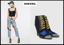 DIESEL Round Toe Casual Style Blended Fabrics Street Style Plain