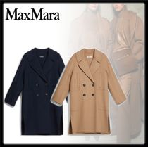 MaxMara Casual Style Wool Plain Medium Office Style Peacoats