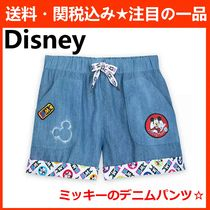 Disney Short Casual Style Denim Denim & Cotton Shorts
