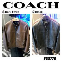 Coach Plain Biker Jackets