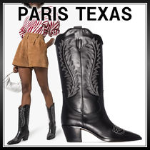 PARIS TEXAS Cowboy Boots Casual Style Street Style Leather Block Heels