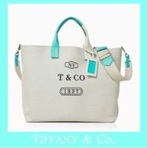 Tiffany & Co Casual Style Unisex Canvas A4 2WAY Totes