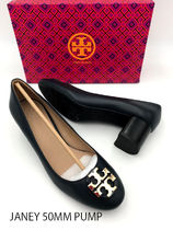 Tory Burch Plain Leather Pumps & Mules