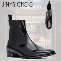 Jimmy Choo Leopard Patterns Street Style Leather Chelsea Boots