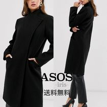 ASOS Casual Style Plain Long Party Style Office Style Peacoats