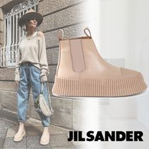 Jil Sander Plain Leather Boots Boots