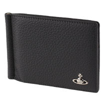 Vivienne Westwood Unisex Plain Leather Folding Wallets