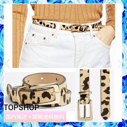 Leopard Patterns Casual Style Blended Fabrics Bi-color