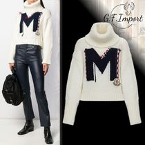 MONCLER Short Casual Style Wool Cashmere Long Sleeves Turtlenecks