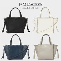 J & M Davidson Belle Casual Style Calfskin Blended Fabrics Studded 2WAY Bi-color