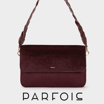 PARFOIS Casual Style Faux Fur 2WAY Plain Shoulder Bags