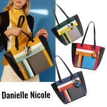 DANIELLE NICOLE Casual Style Unisex Street Style Collaboration A4 Plain