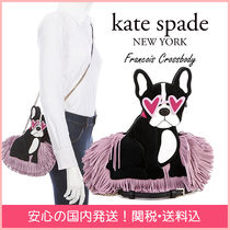 kate spade new york Suede Other Animal Patterns Leather Elegant Style Crossbody