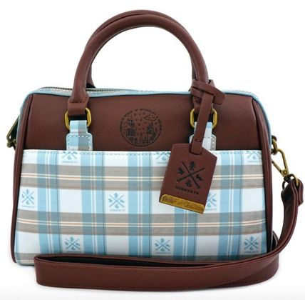 Gingham Casual Style Collaboration 2WAY Crossbody Logo