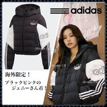 adidas SUPERSTAR Street Style Bi-color Plain Medium Down Jackets