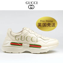 GUCCI Unisex Street Style Plain Sneakers