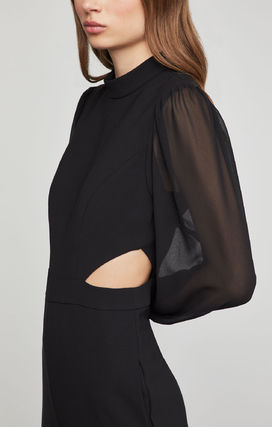 Long Sleeves Plain Party Style Elegant Style Formal Style