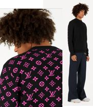 Louis Vuitton MONOGRAM Unisex Cashmere Long Sleeves Knits & Sweaters