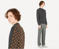 Louis Vuitton MONOGRAM Unisex Cashmere Street Style Long Sleeves Sweaters