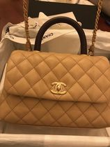 CHANEL MATELASSE 2WAY Bi-color Plain Leather Party Style Elegant Style