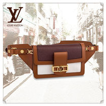 Louis Vuitton TAURILLON Casual Style Blended Fabrics 3WAY Plain Leather