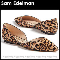 Sam Edelman Leopard Patterns Casual Style Pointed Toe Shoes