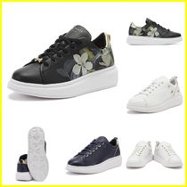 TED BAKER Flower Patterns Rubber Sole Casual Style Plain Leather