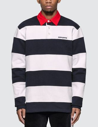 Pullovers Stripes Street Style Long Sleeves Polos