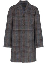 PRADA Wool Plain Long Chester Coats