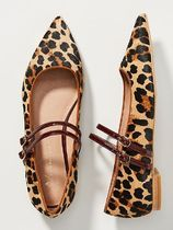 Anthropologie Leopard Patterns Rubber Sole Pointed Toe Shoes