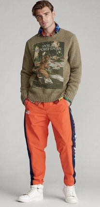 POLO RALPH LAUREN Vests & Gillets Crew Neck Cable Knit Wool Street Style Long Sleeves Logo 2