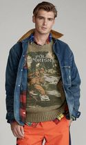 POLO RALPH LAUREN Vests & Gillets Crew Neck Cable Knit Wool Street Style Long Sleeves Logo 6