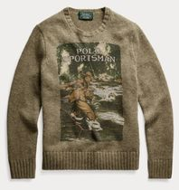 POLO RALPH LAUREN Vests & Gillets Crew Neck Cable Knit Wool Street Style Long Sleeves Logo 7